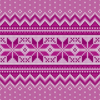 Winter vakantie naadloze breipatroon. fair isle gebreide trui design. kerst achtergrond