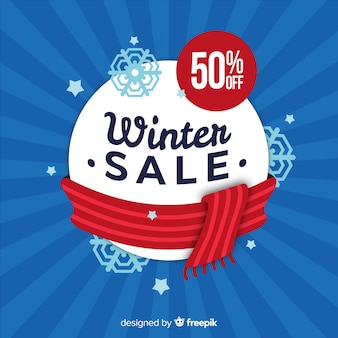 Winter verkoop achtergrond