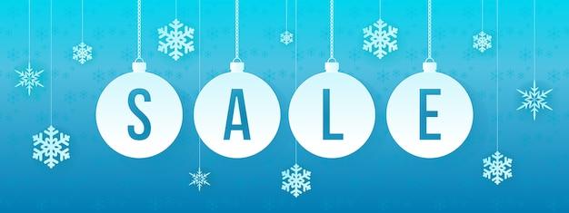 Winter verkoop banner vector