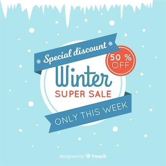 Winter verkoop banner