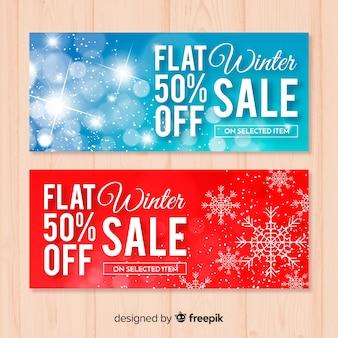 Winter verkoop banners