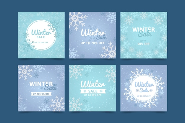Winter verkoop instagram post collectie
