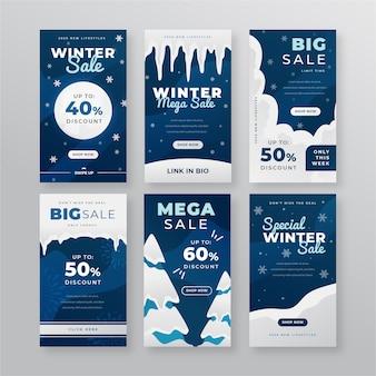 Winter verkoop instagram verhaalcollectie