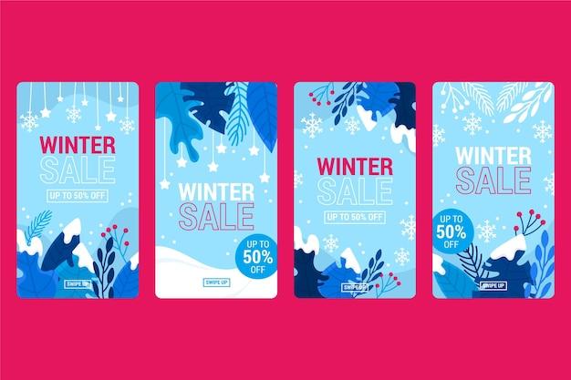 Winter verkoop instagram verhalen instellen