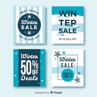 Winter verkoop kaarten
