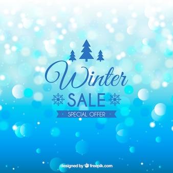 Winter verkoop ontwerp met cirkels