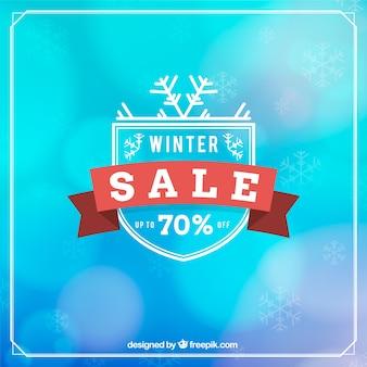 Winter verkoop ontwerp