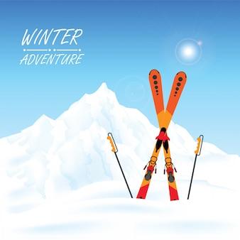 Winteravontuur conceptueel.