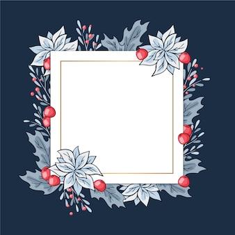 Winterbloemen met lege banner