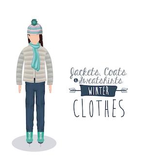 Winterkleding ontwerp