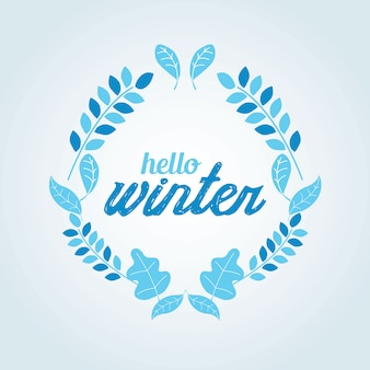 Winterkroon blauwe kleur vector illstration