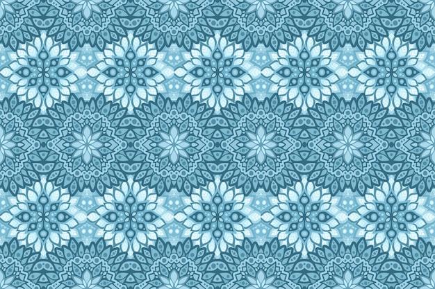 Winterkunst met blauw ijzig patroon