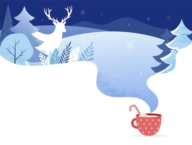 Winterlandschap achtergrond. kerstmis.