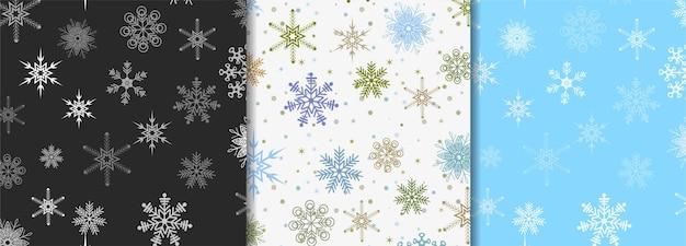 Winterpatronen voor post-sjabloon