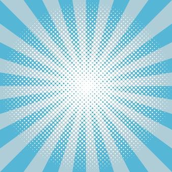 Wintersneeuw rond zonnestraal halftoon blauw patroon