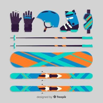 Wintersport uitrusting achtergrond