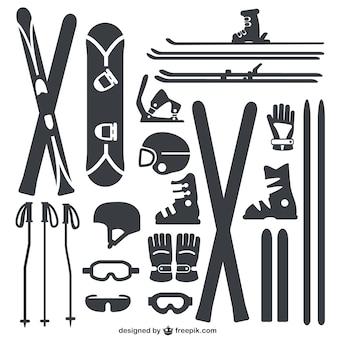 Wintersport uitrusting verpakking
