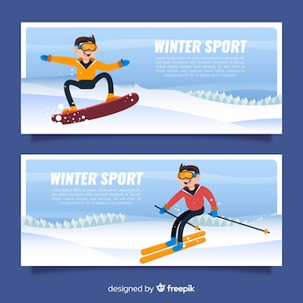Wintersportbanners