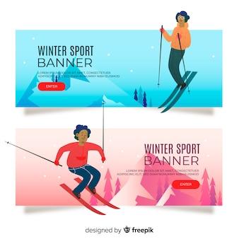 Wintersportbanners