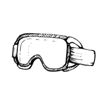 Wintersportbril zwarte omtrek