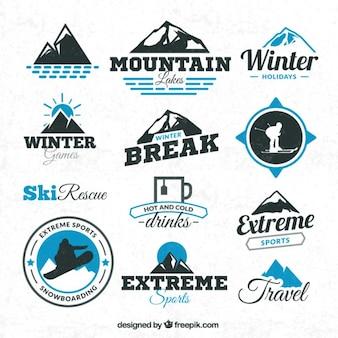 Wintersporten badges