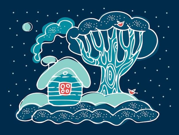 Wintertijd kerstlandschap