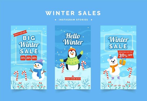 Winteruitverkoop ig stories-collectie