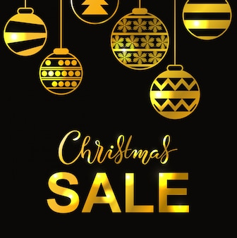 Wintervakantie belettering poster met de titel van de kerstmisverkoop