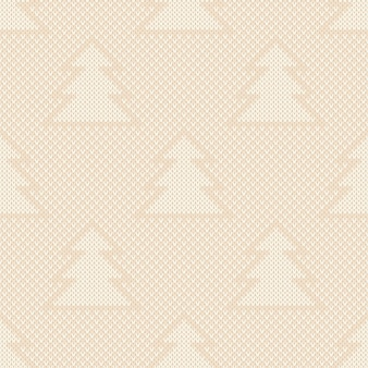 Wintervakantie gebreid patroon kerstbomen ornament