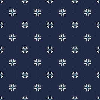 Wintervakantie gebreid patroon met sneeuwvlokken. breien trui design. naadloze kerstmis en nieuwjaar achtergrond