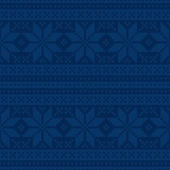 Wintervakantie gebreide trui patroon ontwerp met kerst sterren ornament