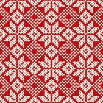 Wintervakantie gebreide trui patroon. wol gebreide textuur imitatie
