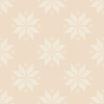 Wintervakantie naadloos gebreid patroon met sneeuwvlokken