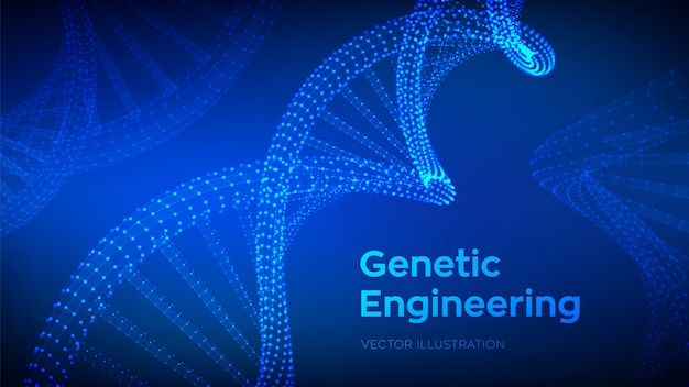Wireframe dna-sequentie,
