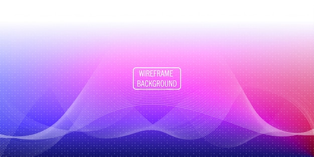 Wireframe golf abstracte achtergrond