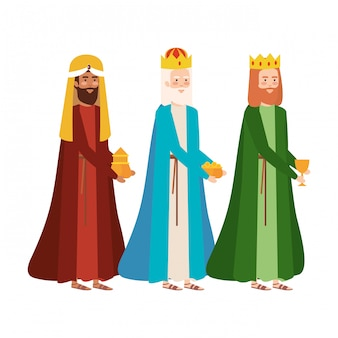 Wise kings manger-personages