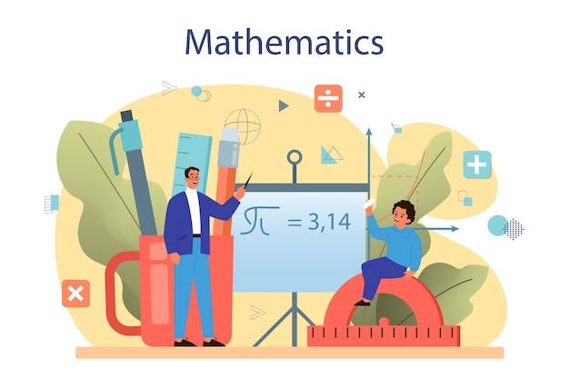 Wiskunde cursus concept
