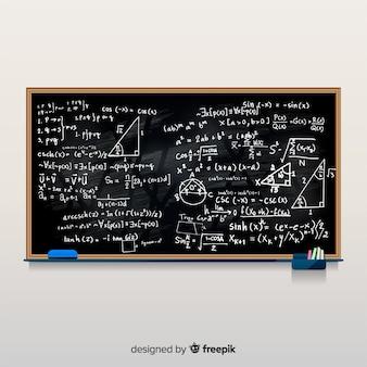 Wiskunde realistische schoolbord achtergrond