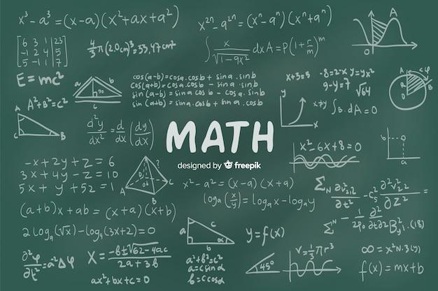 Wiskunde schoolbord