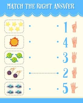 Wiskunde tellen nummer werkblad