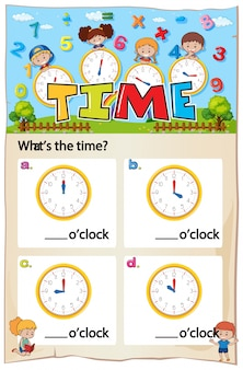 Wiskunde tijd hoofdstuk werkblad