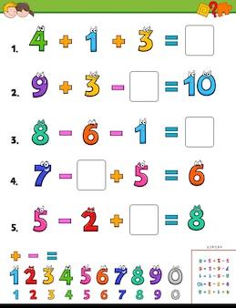 Wiskundig rekenen educatief spel voor kinderen