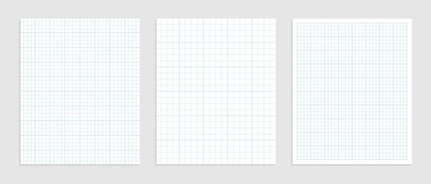 Wiskundig ruitjespapier ingesteld voor gegevensrepresentatie