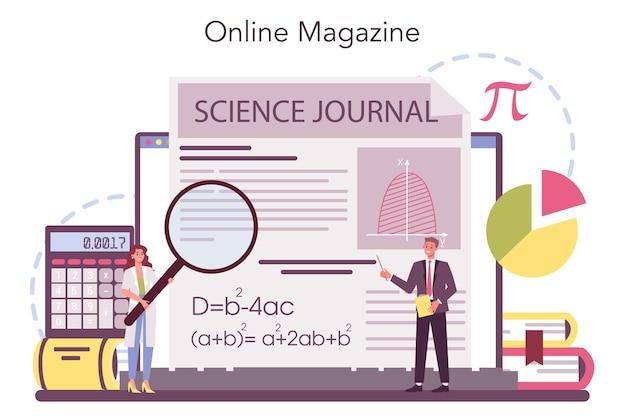 Wiskundige online service of platform