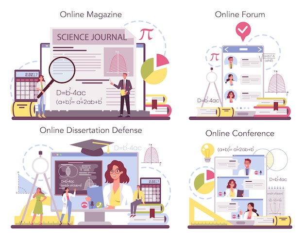 Wiskundige online service of platformset.