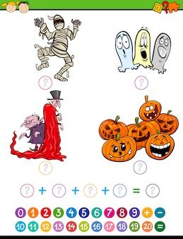 Wiskundige taak cartoon illustratie