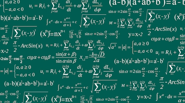 Wiskundige vergelijking, wiskundige, rekenkundige formules.