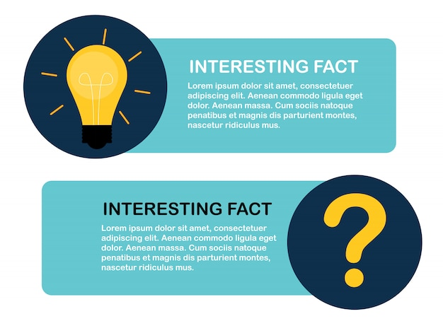 Wist je dat je een interessante feitetiketsticker hebt? illustratie