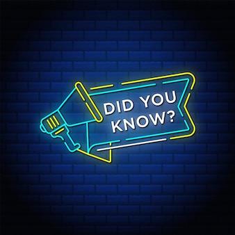 Wist je dat neonreclamestijltekst met megafoon is?