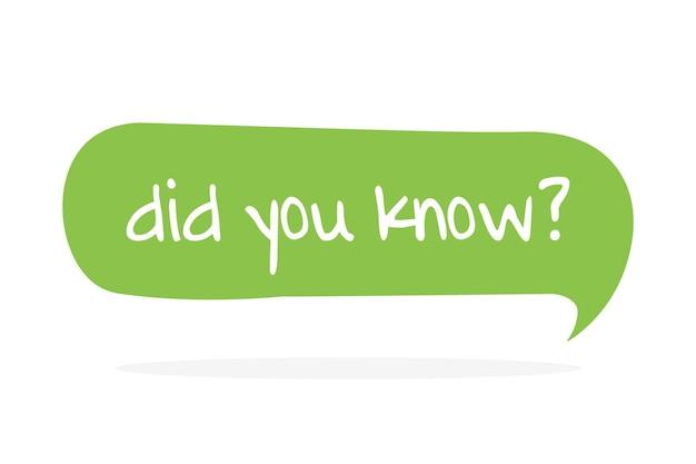 Wist u. vector hand getrokken toespraak bubble pictogram, badge illustratie op witte achtergrond.